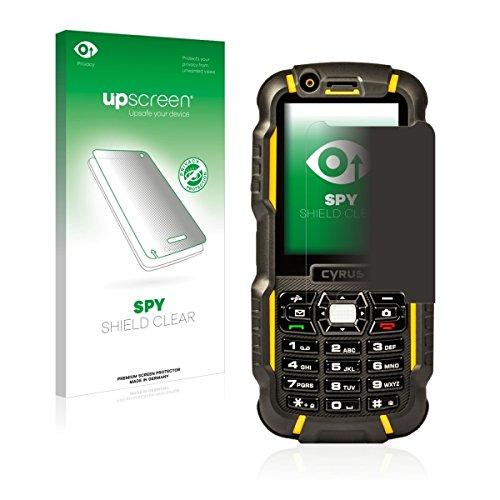 upscreen Spy Shield Clear Blickschutzfolie / Privacy für Cyrus CM 15 (Sichtschutz ab 30°, Kratzschutz, selbstklebend)