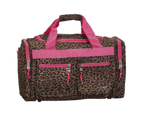 rockland-luggage-19-inch-tote-bag-pink-leopard-one-size