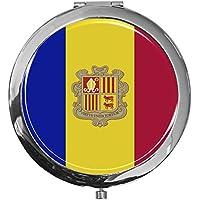 """metALUm - Extragroße Pillendose in runder Form""""Flagge Andorra"""" preisvergleich bei billige-tabletten.eu"""