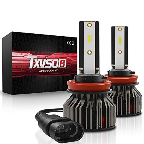 YuCarAc H8/H9/H11 Auto Kit Xenon 8000LM Ersatz Kits, 6000K Weiß, 80W, Fit All H8/H9/H11 Automodell, 40W/Birne, 2pcs/Set