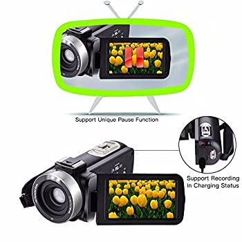 Camera Camcorders,camking Hdv-301m 1080p 16x Digital Zoom 3 Inch Touch Screen Lcd Video Camcorder With External Microphone 10