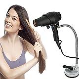 FGES Fön Halter,Einstellbare Edelstahl -Hair Dryer Holder,mit Saugnäpfe Für Wand/Glas/Fliesen, 360 Drehrohr