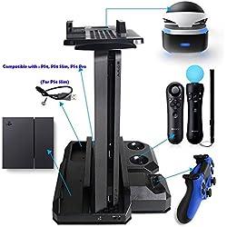 Estacion de carga y refrigeración para PS4/PS4 Pro/PS4 Slim/PS4 VR