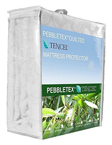 Dawn pebbletex Natur Tencel gesteppt Wasserdicht Matratze Pad, Baumwolle, cremefarben, Twin XL ()