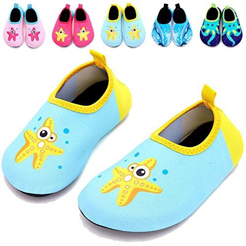 TUCSSON Kleinkind Schuhe Kinder Schwimmen Wasser Schuhe Jungen Mädchen Strandschuhe Barefoot Aqua Socken Schuhe Für Beach Pool Surfen Yoga Surfschuhe Unisex