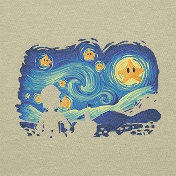Texlab–Mario Stars Night–sacchetto di stoffa Naturale