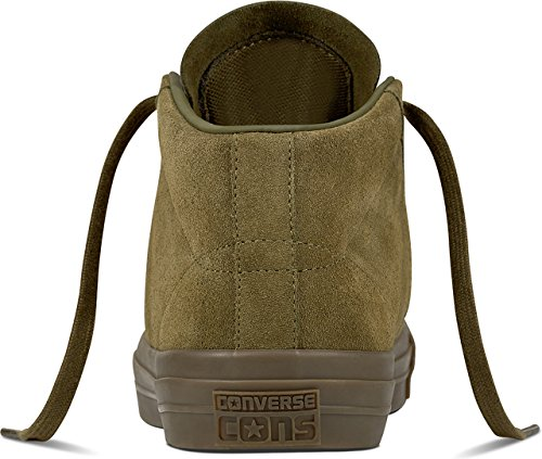 Converse 157869 One Star Pro Unisex Turnschuhe (44, Medium Olive/Light Fawn) (Nubuk-star)