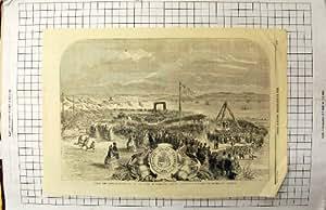 La Copie Antique de la Première pierre 1860 Accouple Vicomte Addressing Assemblage de Falmouth