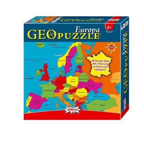 Amigo 00380 - GeoPuzzle - Europa, 58 Teile