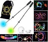 Flames 'N Games LED Glow Poi - Multicolor / Lenta Dissolvenza + Borsa da Viaggio! - Palla Poi