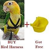 Pawzone Bird harness + free bird bowl
