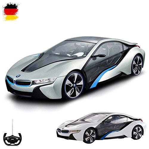 BMW i8 Vision - RC ferngesteuertes Modellauto Maßstab 1:14 mit blaue LED Beleuchtung+Fernsteuerung