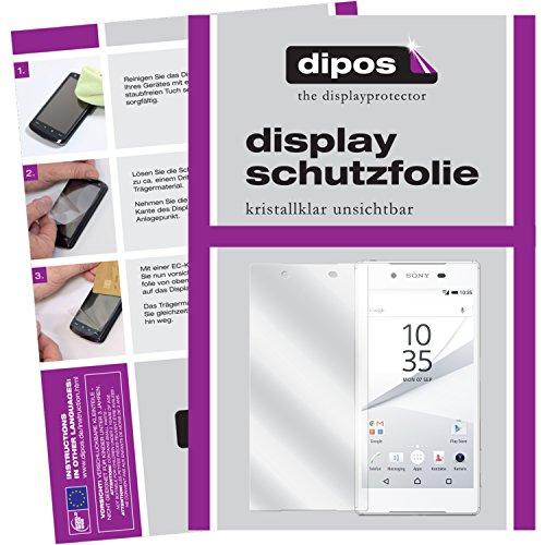 dipos I 2X Schutzfolie klar passend für Sony Xperia Z5 Folie Bildschirmschutzfolie