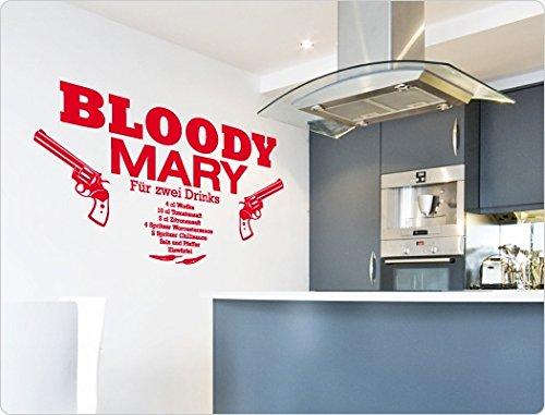 "Preisvergleich Produktbild I-love-Wandtattoo 11413 Wandtattoo Cocktail Rezept ""Bloody Mary"""