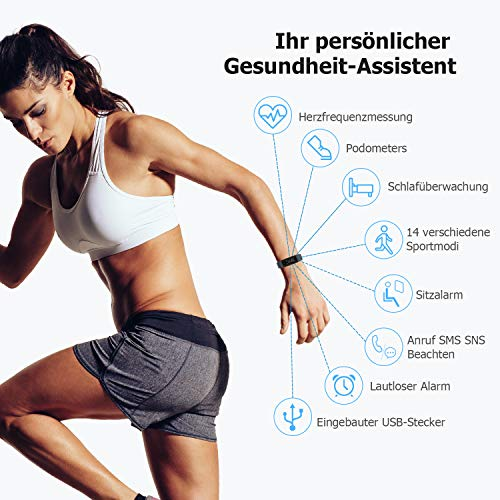 Letsfit ID130PlusHR Fitness Tracker - 2
