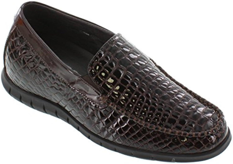 Toto  h333152 6 1 cm größer die Höhe Steigerung Aufzug Schuhe  Dark Brown Patent Leder  Braun  45.5