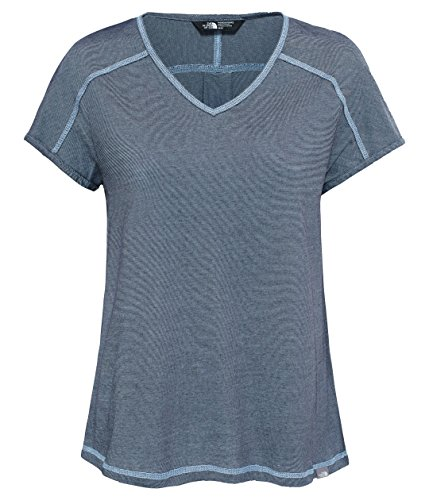 The North Face Dayspring Short-Sleeve T-Shirt Femme Urban Navy/Chambray Blue Stripe