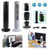 takestop® Mini Ventilatore A Torre Colonna 33 cm GKV_2192714 Estivo da SCRIVANIA Portatile con Cavo USB da 1 Metro con Luce 2 Velocita' Colore Casuale