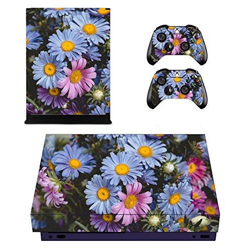 (Candy86 Xbox One X Haut Aufkleber, Vinyl Aufkleber schützende Haut Aufkleber für Xbox One X Konsole + 2Controller Skins + 2x Silikon Daumenauflage Colour 20)