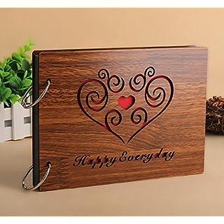 Alisabler Diy Photo Album Wood Anniversary Scrapbook 8 X 6 Inchesfor everybody (happy everyday)