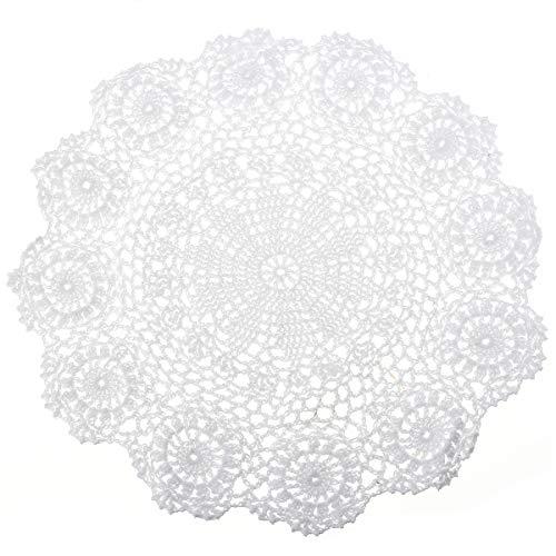lt Spitzendeckchen Baumwolle Placemat Blume Matte, 37cm ()
