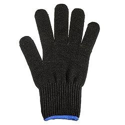 Generic Black Heat Resistant Glove Hair Styling Tool For Curler Straightener