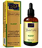 Sleep Oil - Aromatherapy Aid for Better, Deep Sleep. Lavender, Chamomile and Bergamot in Apricot Oil. Calming Aroma for Relaxation or Stress Relief. For Diffuser or Oil Burners for Essential Oils.