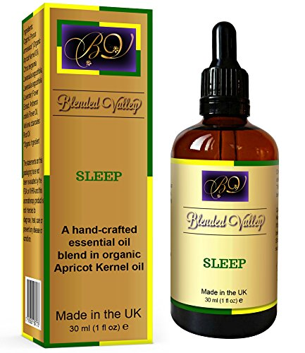 Sleep Oil - Lavender, Chamomile and Bergamot Essential Oils in Apricot Kernel Oil. Natural Blend for Aroma Diffuser or Oil Burner, for Better Sleeping, Relaxation or Stress Relief.