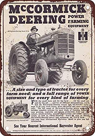 Odeletqweenry Metallschild, Blechschild, Blechschild, 1946 McCormick Deering Traktors Vintage Look Reproduktion Blechschild 30,5 x 45,7 cm