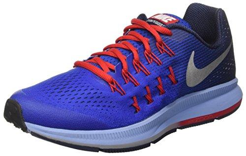 Nike 834316-402, Chaussures de Sport Garçon Azul (Game Royal/Metallic Silver Midnight Navy)