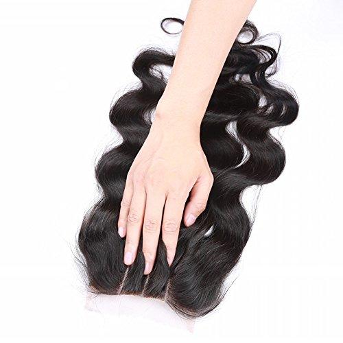 sexyqueenahir brésilien Fermeture en dentelle de cheveux humains Fermeture 20,3 cm(8 pouces)