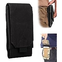 Efanr - Riñonera para cinturón, táctico, militar, bolsillos con cremallera y funda para iPhone 7, 6S Plus, S7, Samsung Galaxy S7, S6, LG, HTC y más móviles de hasta 6 pulgadas
