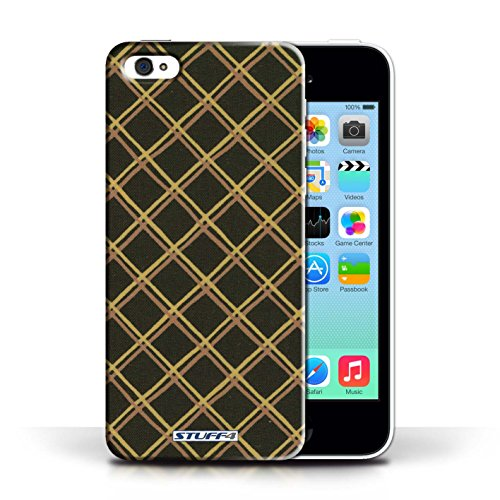 iCHOOSE Print Motif Coque de protection Case / Plastique manchon de telephone Coque pour Apple iPhone 5C / Collection Motif Entrecroisé / Orange Jaune/Noir