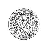 U&D Damen Coins Schmuck 25mm Coin Silber fur Coin Kette