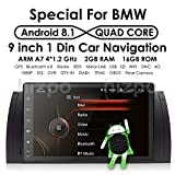 Android 8.1 Car Multimedia GPS Stereo for BMW 5 Series E39 E53 X5 M5 Vehicle Single Din 9 inch In Dash Headunit HD Touchscreen Car Video Player GPS Navi Steering Wheel Control Bluetooth SD USB