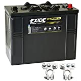 Exide Equipment Gel Batterie ES 1300 12V 120Ah inkl. Polklemmen Boot Solar Wohnmobil