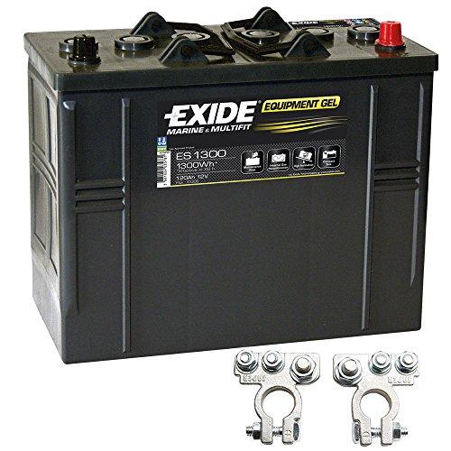 Preisvergleich Produktbild Exide Equipment Gel Batterie ES 1300 12V 120Ah inkl. Polklemmen Boot Solar Wohnmobil