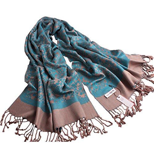 KYXXLD dans Les Personnes âgées Femmes Longue écharpe d'hiver Tout-Match Double Face Nationale écharpe décorative