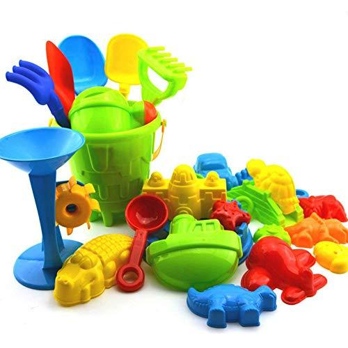Kentop 25Stk Strand Spielzeug Set Sandformen Sand Schloss Set fur Kinder