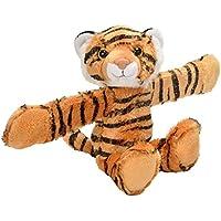 Wild Republic - Huggers, Tigre Peluche con Brazalete de presión Integrado, 20 cm (