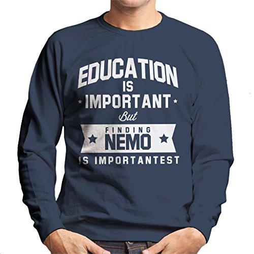 Coto7 Education is Important But Finding Nemo is Importantest Men's Sweatshirt