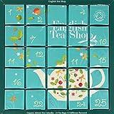 English Tea Shop Organic Blue Advent Calendar Tea Bags,25-Count