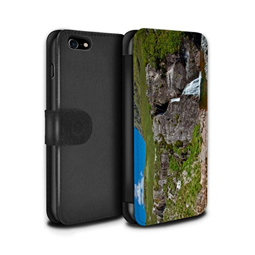 Stuff4 Coque/Etui/Housse Cuir PU Case/Cover pour Apple iPhone 7 / Loch/Vallée Design / Campagne Écossais Collection Cascade/Flux