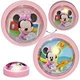 Unbekannt LED Nachtlicht -  Disney Minnie Mouse  - Batterie betrieben - magisches Licht & Schlummerlicht - zum Drücken - Touch - Baby / Wand - SCHNURLOS & Kabellos - ..