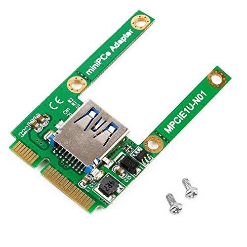 Triamisus Grün 51 * 29 * 7mm (L * B * H) 4g Mini-PCI-E-Kartensteckplatz Erweiterung für USB 2.0-Schnittstellenadapter Riser-Karte Eletronic Kompatibel mit USB1.1