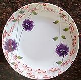 #9: Indus Set of 6 Pcs Half Size Dinner Plate With Flower Design