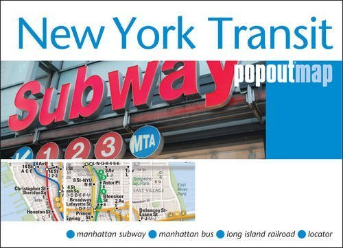 New York Transit Popout Map - handy pocket size pop-up map of New York metro and transit system (Popout Maps) by PopOut Maps ( 2013 ) Map