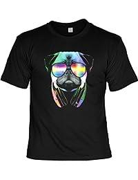 3ed27afed360 Goodman Design ® T-Shirt mit Buntem Hunde Motiv - DJ Pug - Mops mit