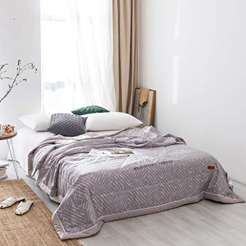CHANG XU DONG SHOP Sommer-Klimadecke, waschbare, dünne Bettdecke für den Sommer, weiche, kuschelige Kühldecke, ultradünne, atmungsaktive Ganzjahres-Steppdecke (Color : Green) -