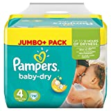 Pampers Baby Dry Größe 4 maxi 7 – 18 kg Jumbo + Pack 78 Windeln